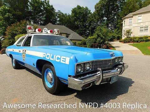 1973 Chevrolet Bel Air NYPD Police CAR for sale