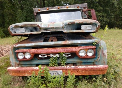 1960 GMC 3500 stake body Flatbed truck for sale
