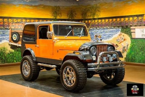 Jeep CJ-7 Orange with 100,492 Miles, for sale! for sale