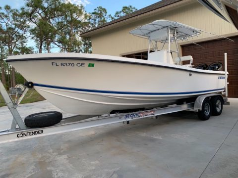1989 Contender 25 open boat for sale