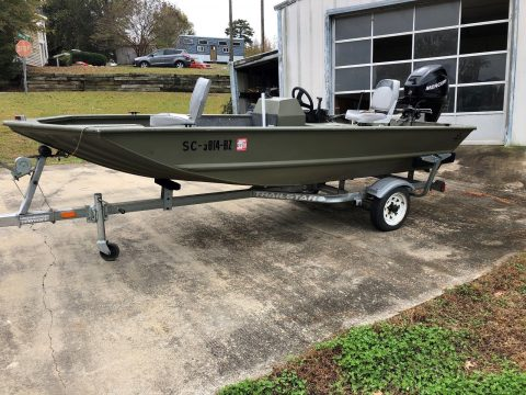 2008 Jon Boat Tracker Grizzly All Weld Mercury 4 Stroke Fishing Boat for sale