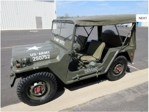 1968 Ford M151A1 Military for sale
