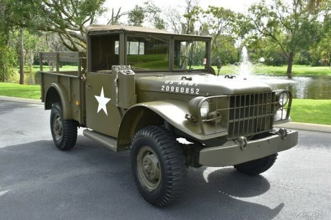 1953 Dodge M37 3/4 Ton Military Truck Flat 6 Cylinder for sale